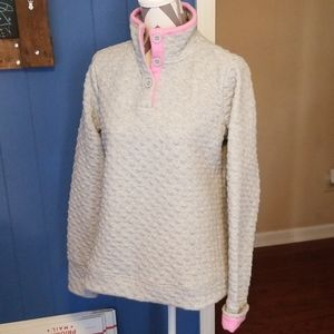 Crown & Ivy size large quilted pullover NWOT